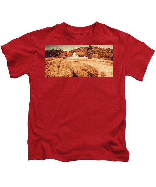 Quaint Country Cottage Kids T-Shirt