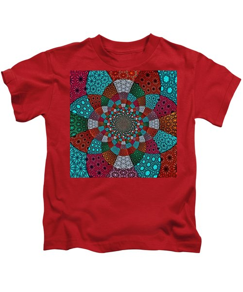 Quilted Glasswork Kids T-Shirt