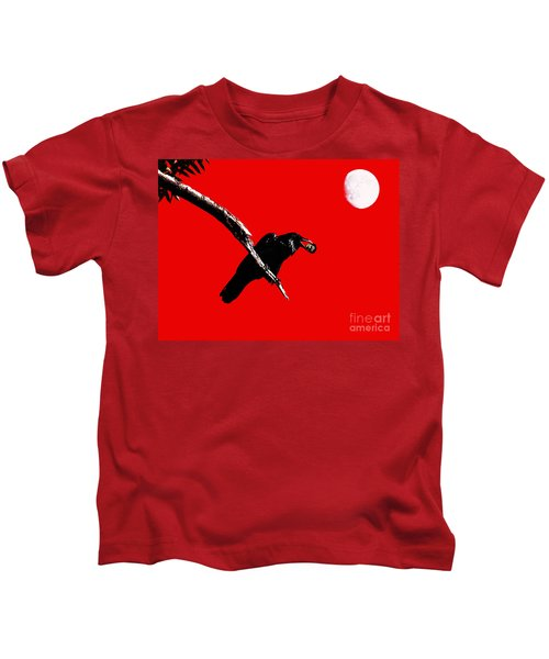 Quoth The Raven Nevermore . Red Kids T-Shirt