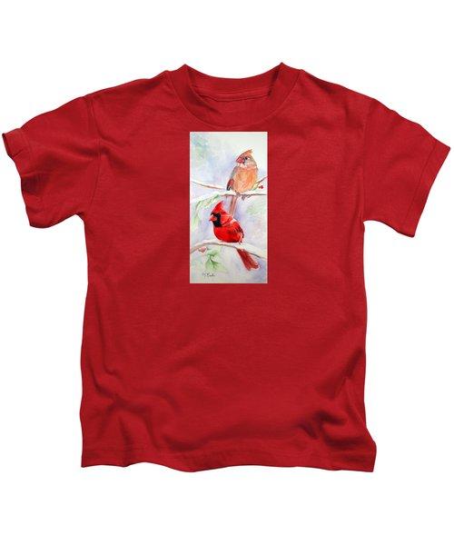 Radiance Of Cardinals Kids T-Shirt