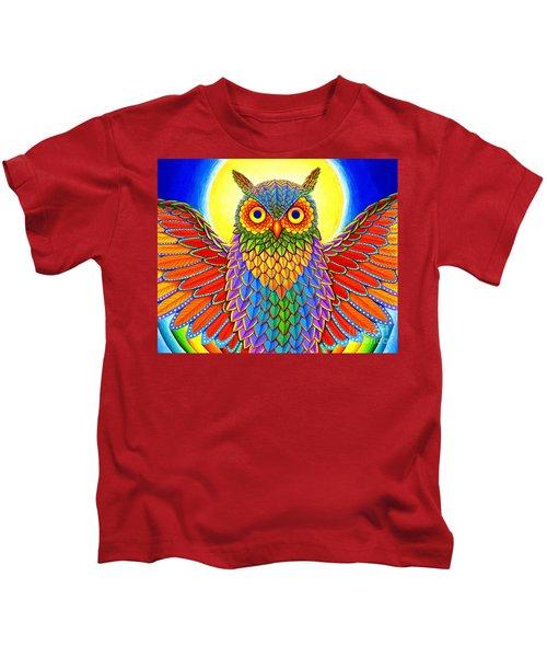 Rainbow Owl Kids T-Shirt