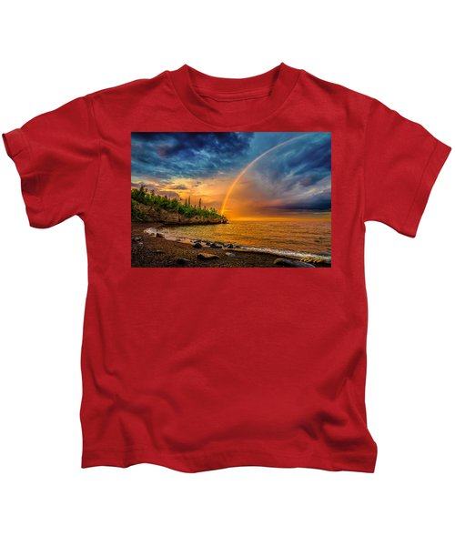 Rainbow Point Kids T-Shirt