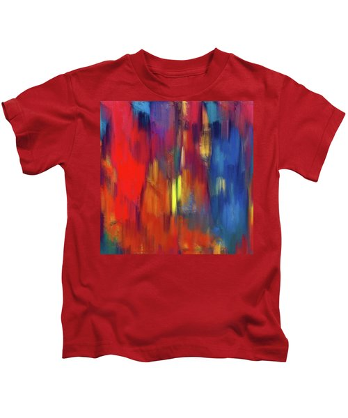 Raining Colors Abstract Kids T-Shirt