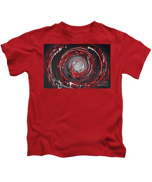 Raspberry Swirls Kids T-Shirt