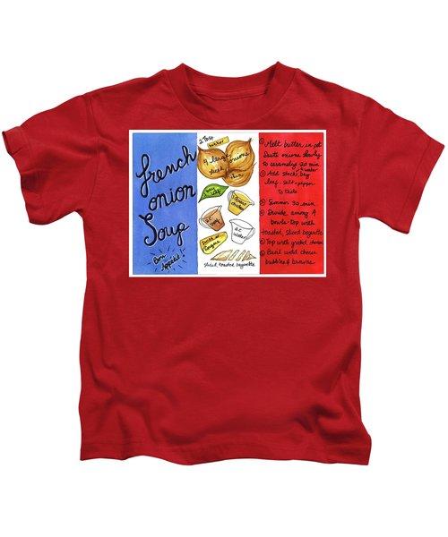 Recipe French Onion Soup Kids T-Shirt