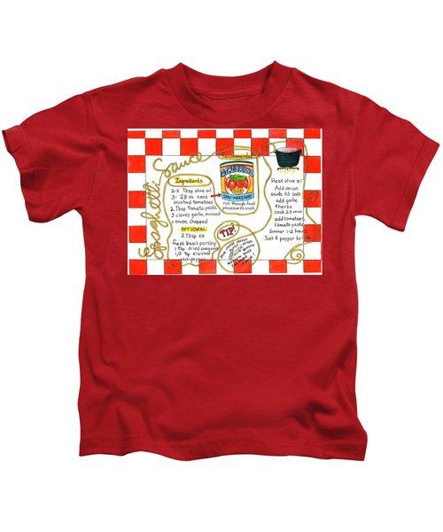 Recipe -spaghetti Sauce  Kids T-Shirt