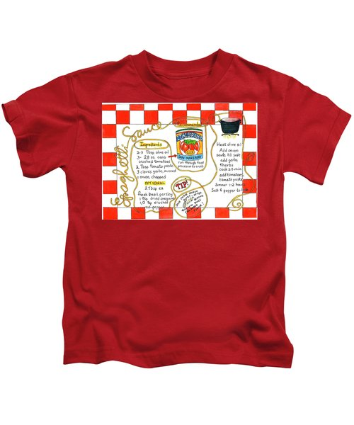 Recipe -spaghetti Sauce  Kids T-Shirt
