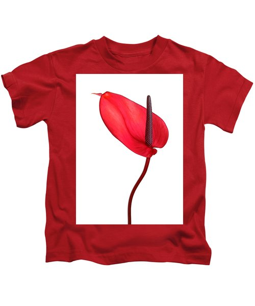 Red Anthrium Kids T-Shirt