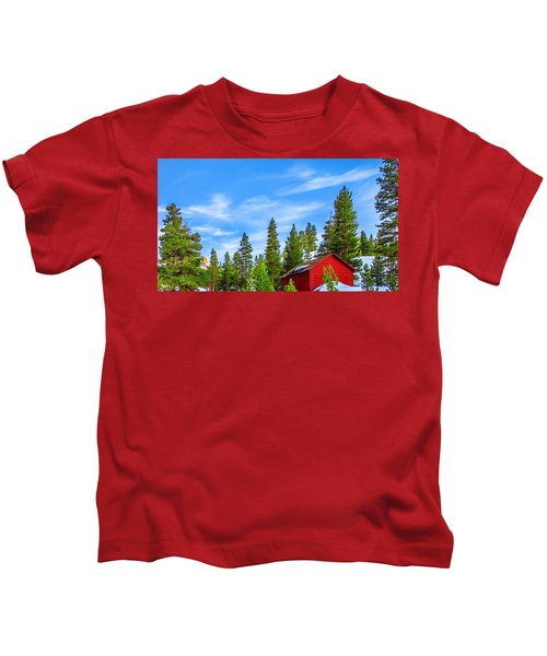 Red Barn On A Hill Kids T-Shirt