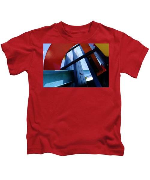 Red Blue And Yellow In Downtown Orlando Florida Kids T-Shirt