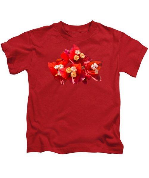 Red Bougainvillea  Kids T-Shirt