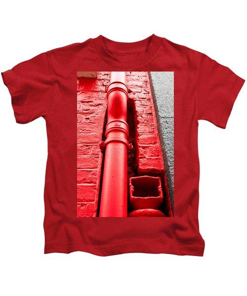 Red Drainpipe Kids T-Shirt