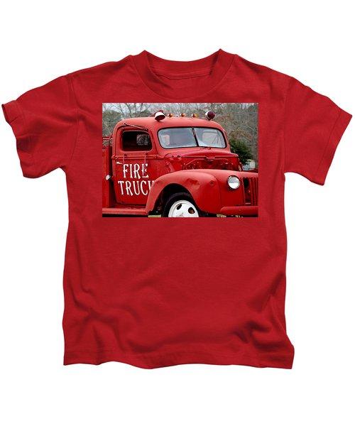 Red Fire Truck Kids T-Shirt