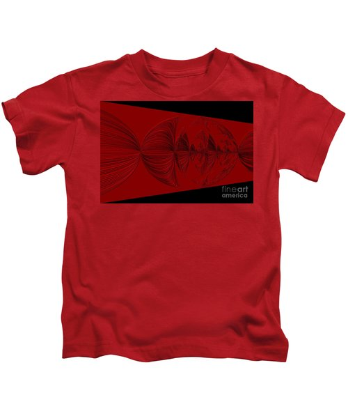 Red And Black Design. Art Kids T-Shirt