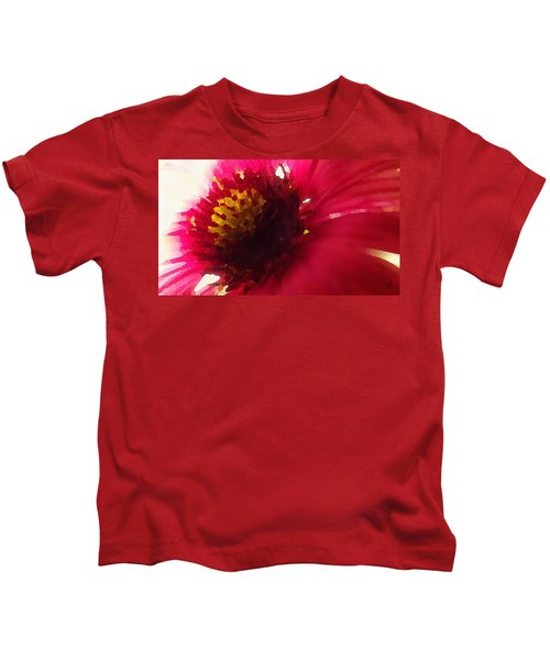 Red Flower Abstract Kids T-Shirt