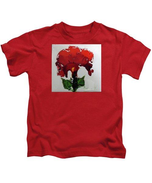 Red Flower Kids T-Shirt