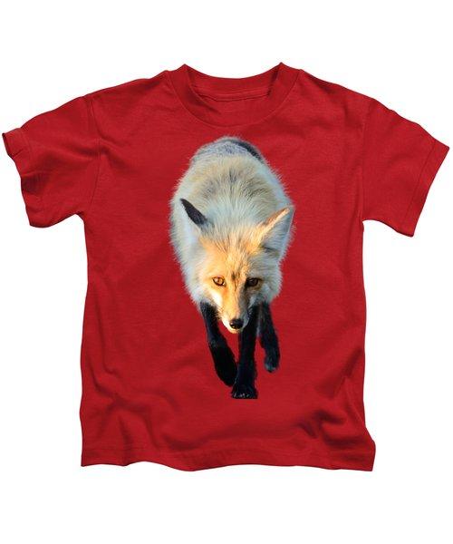 Red Fox Shirt Kids T-Shirt by Greg Norrell
