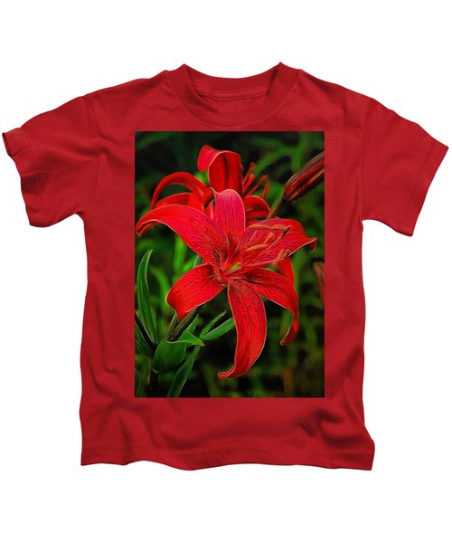Red Lily Kids T-Shirt
