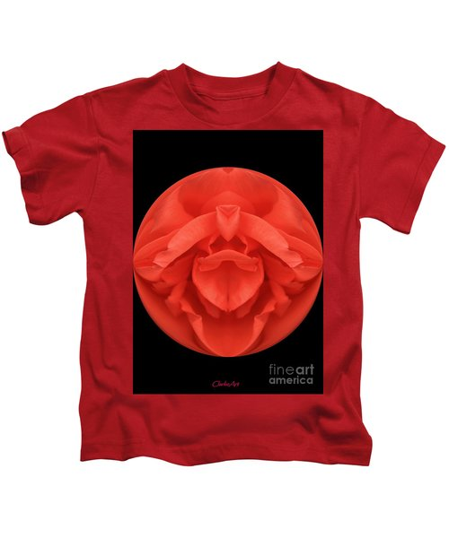 Red Rose Sphere Kids T-Shirt