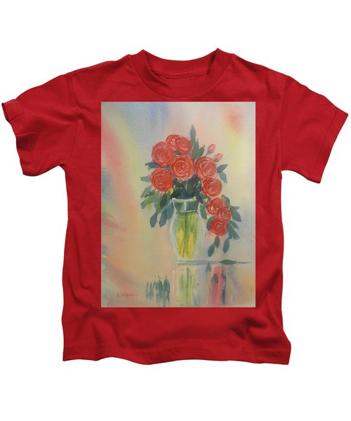 Red Roses For My Valentine Kids T-Shirt