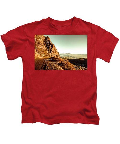 Red Rural Road Kids T-Shirt