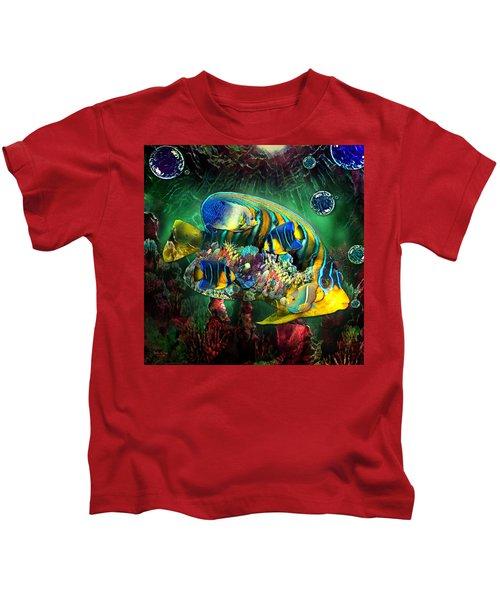 Reef Fish Fantasy Art Kids T-Shirt