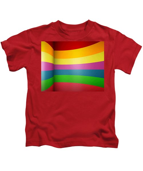 Reflection Of Primary To Secondary Color With One Family Member Pink  Abstract Kids T-Shirt