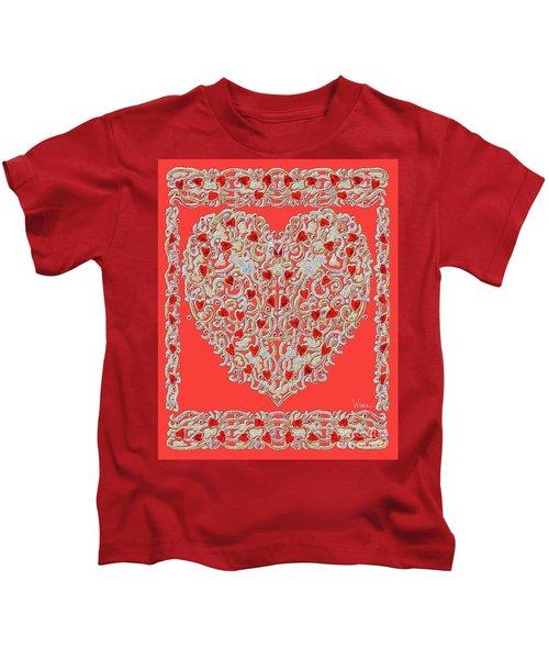 Renaissance Style Heart Kids T-Shirt