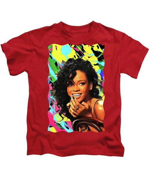 Rihanna - Celebrity Art Kids T-Shirt