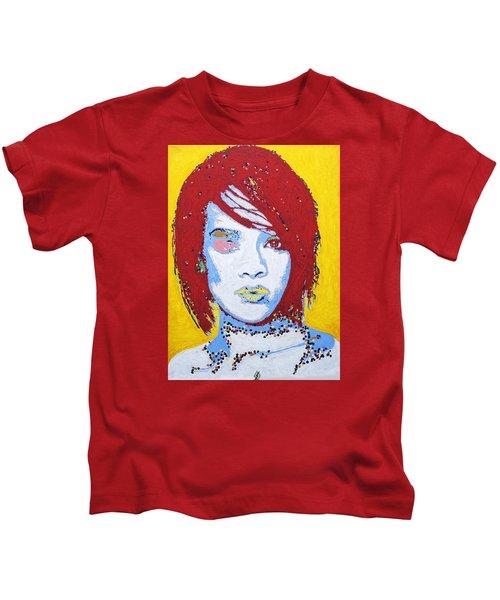 Rihanna  Kids T-Shirt by Stormm Bradshaw