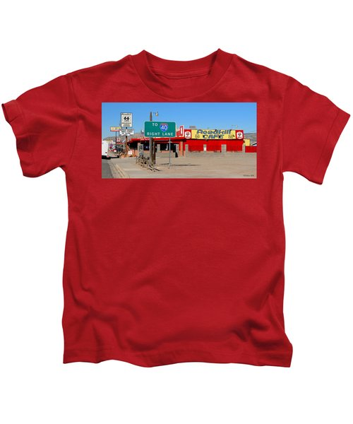 Roadkill Cafe, Route 66, Seligman Arizona Kids T-Shirt