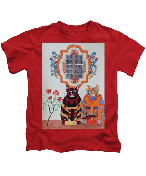 Rosa And Pedro Of The Rose Window Of Mission San Jose Kids T-Shirt