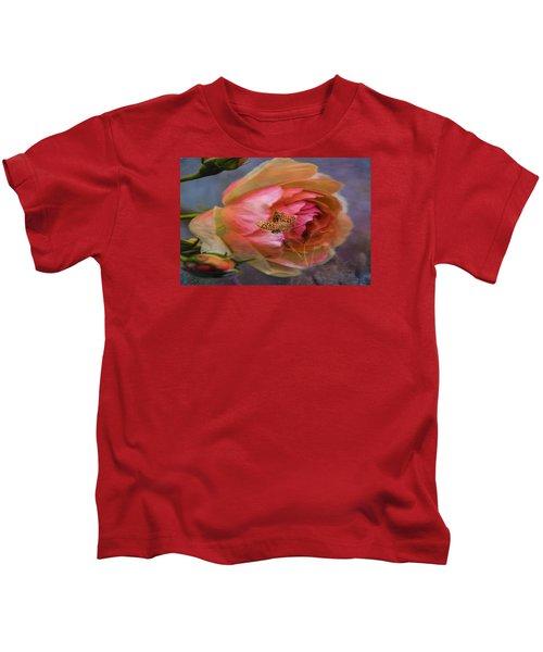 Rose Buttefly Kids T-Shirt
