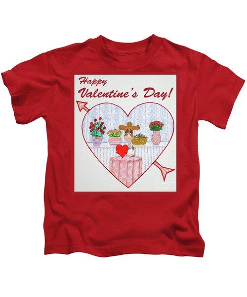 Ruthie-moo Happy Valentine's Day Kids T-Shirt