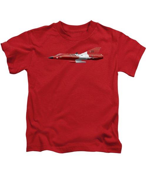 Saab J35o Draken - 351408 - Side Profile View Kids T-Shirt