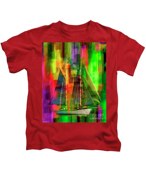 Sailing In The Abstract 2016 Kids T-Shirt