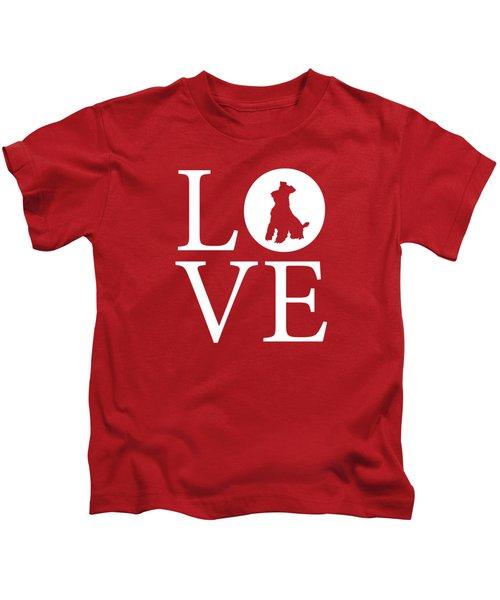 Schnauzer Love Red Kids T-Shirt