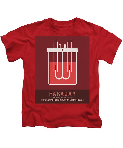 Science Posters - Michael Faraday - Physicist, Chemist Kids T-Shirt