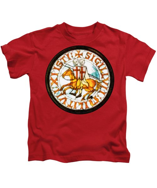 Seal Of The Knights Templar Kids T-Shirt