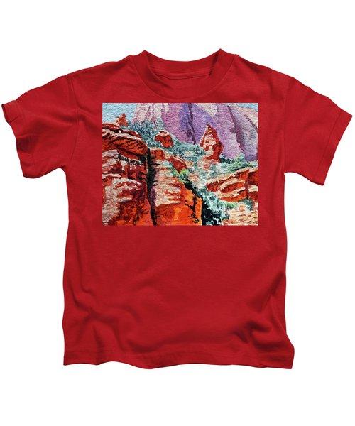 Sedona Arizona Rocky Canyon Kids T-Shirt