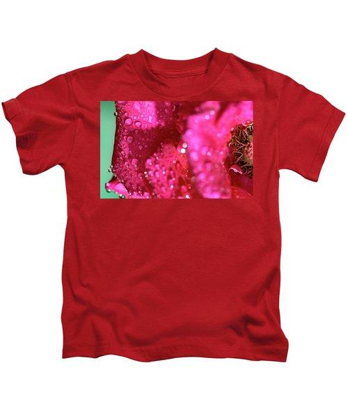 Sharp Wet Rose Kids T-Shirt