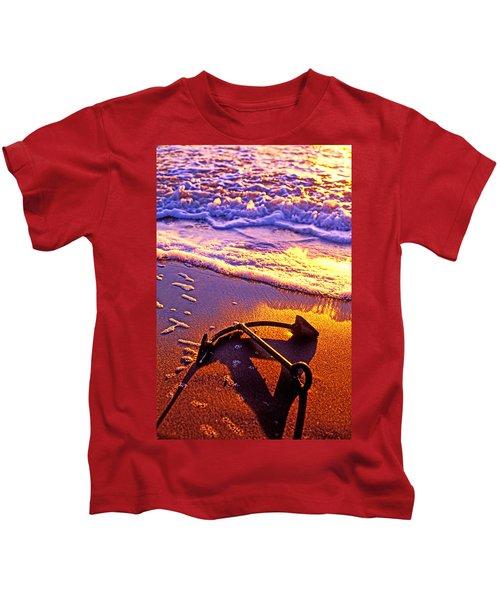 Ships Anchor On Beach Kids T-Shirt