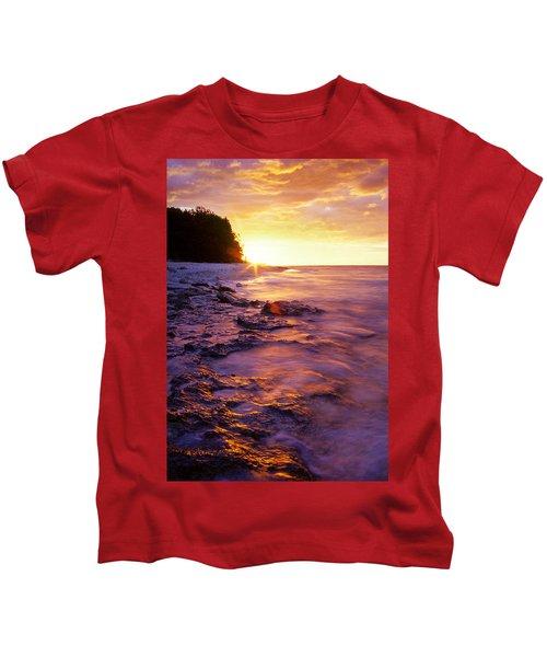 Slow Ocean Sunset Kids T-Shirt