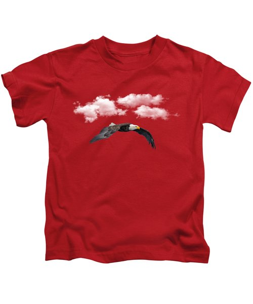 Soaring Among The Clouds Kids T-Shirt