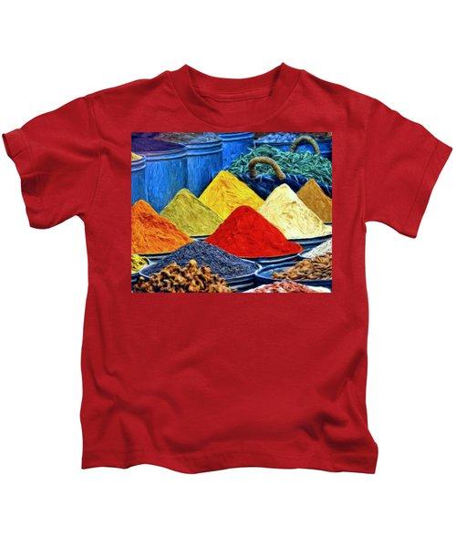 Spice Market In Casablanca Kids T-Shirt