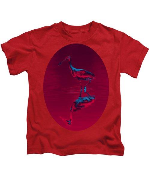 Spoonbill Abstract Decor Kids T-Shirt by John M Bailey