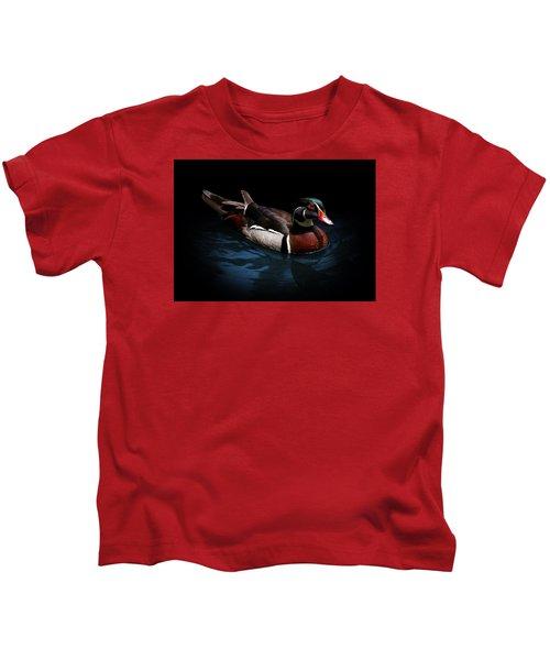 Spotlight On A Wood Duck Kids T-Shirt