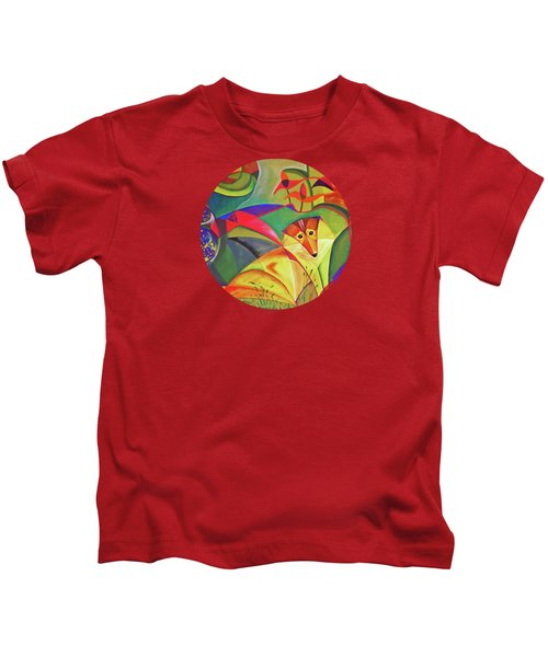 Spring Dog Kids T-Shirt by AugenWerk Susann Serfezi