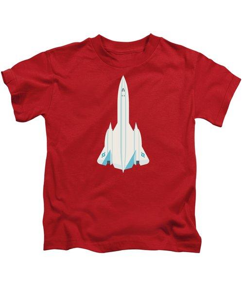 Sr-71 Blackbird Jet Aircraft - Crimson Kids T-Shirt
