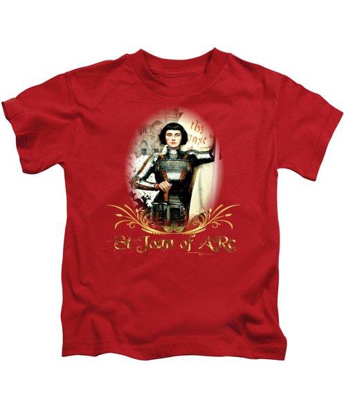 St Joan Of Arc - Jeanne D'arca Kids T-Shirt